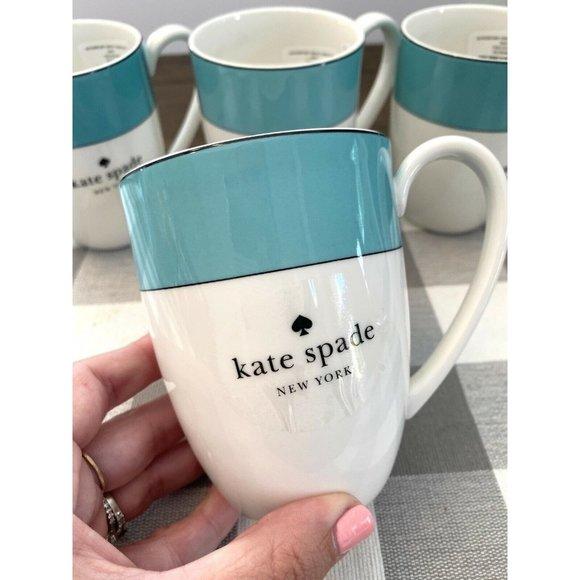 Kate Spade New York Rutherford Turquoise Mug Set